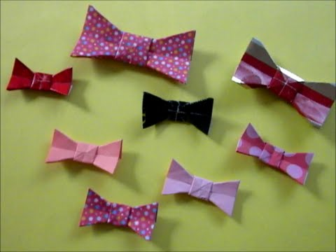 Easy Origami Bow Tie - YouTube - photo#12