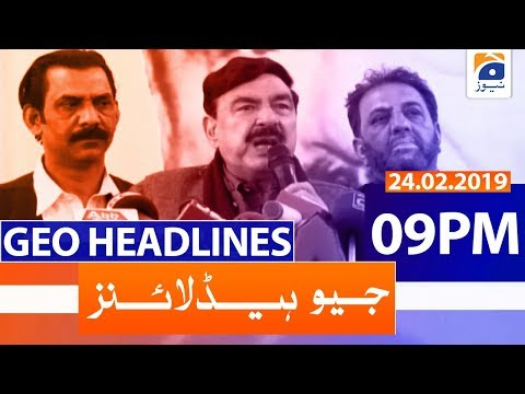 Geo Headlines 09 PM | 24th February 2020