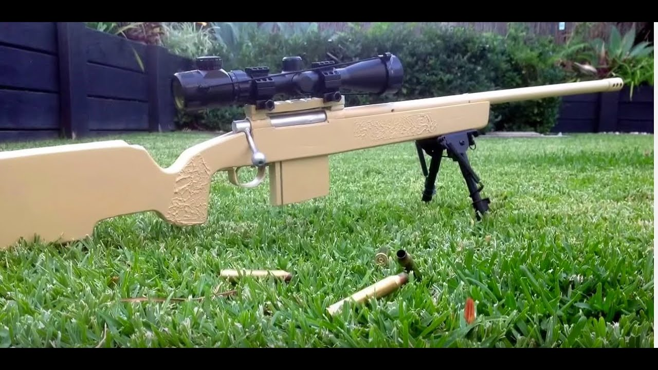 DIY wooden sniper rifle 51