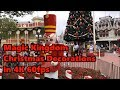 Magic Kingdom Christmas Decorations in 4K 60fps | Tour and Overview | Walt Disney World