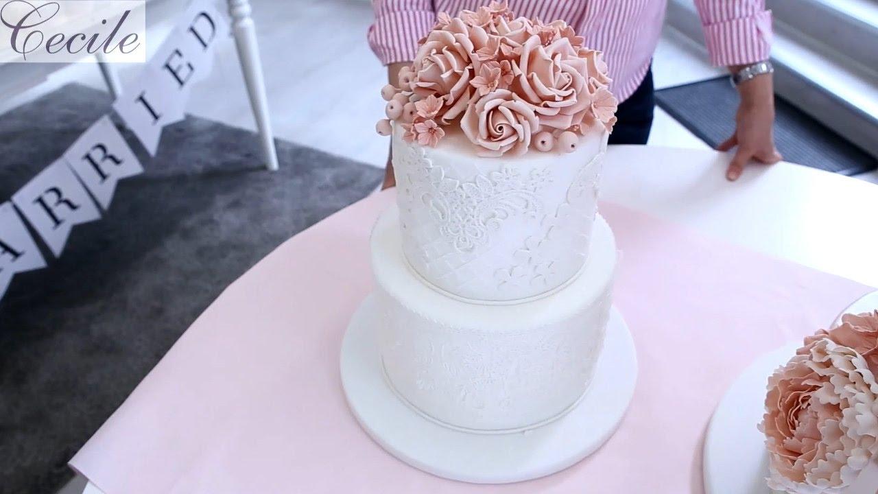 Traum Hochzeitstorten Mit Blumenschmuck Und Spitze Youtube