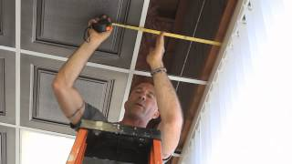 How-to cut ceiling tiles