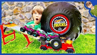 GIANT HOT WHEELS MONSTER TRUCK TIRE!