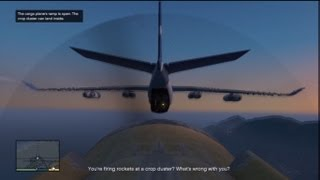GTA V: Stealing A Military Cargo Plane Midflight