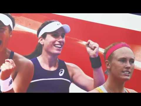 Anne Keothavong GB Fed Cup Team Locker Room Tour