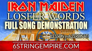 IRON MAIDEN - LOSFER WORDS LESSON - ALL SECTIONS DEMO