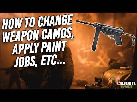 Call of Duty WWII | How to change weapon camos, apply paint jobs, add clan tags & change reticles!!!