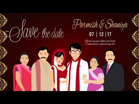 Indian Wedding Invitation Animated video for whatsapp & Social Media | Save the Date (VG-705)