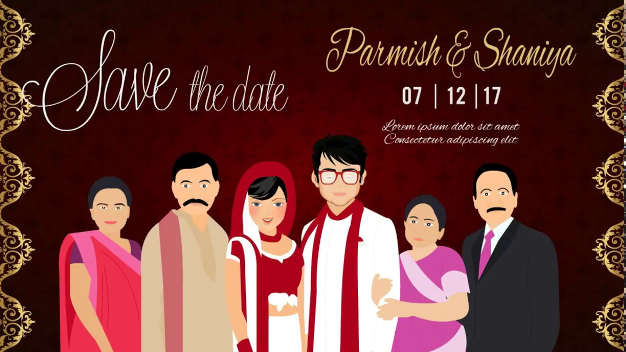 Indian Wedding Invitation Animated video for whatsapp & Social Media ...
