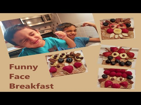 Funny Face Breakfast | Healthy Breakfast with ZJfun