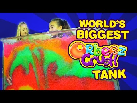 The World's BIGGEST Orbeez Crush Tank Challenge | Official Orbeez