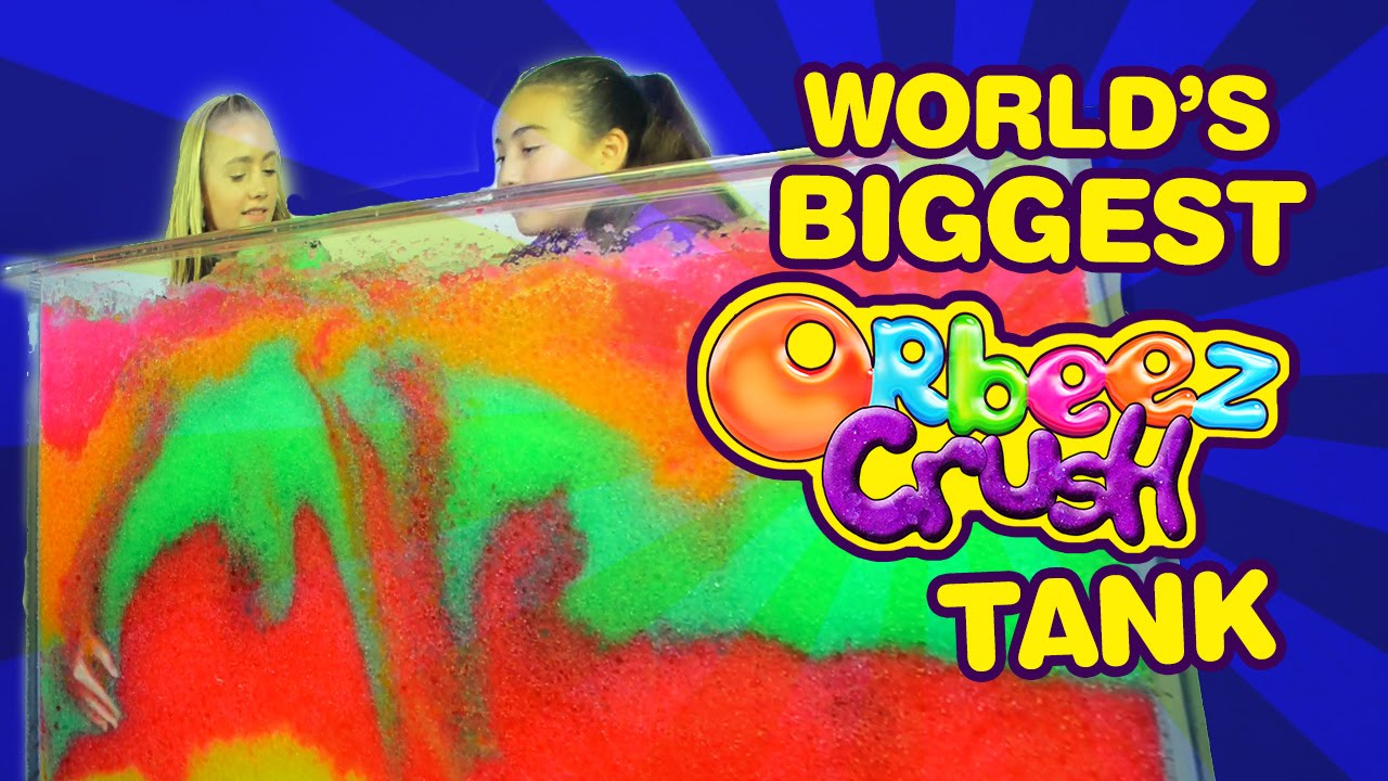 The World S Biggest Orbeez Crush Tank Challenge Official