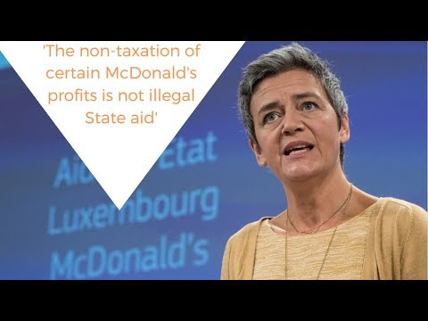 Luxembourg's tax deal with McDonald's is not illegal state aid
