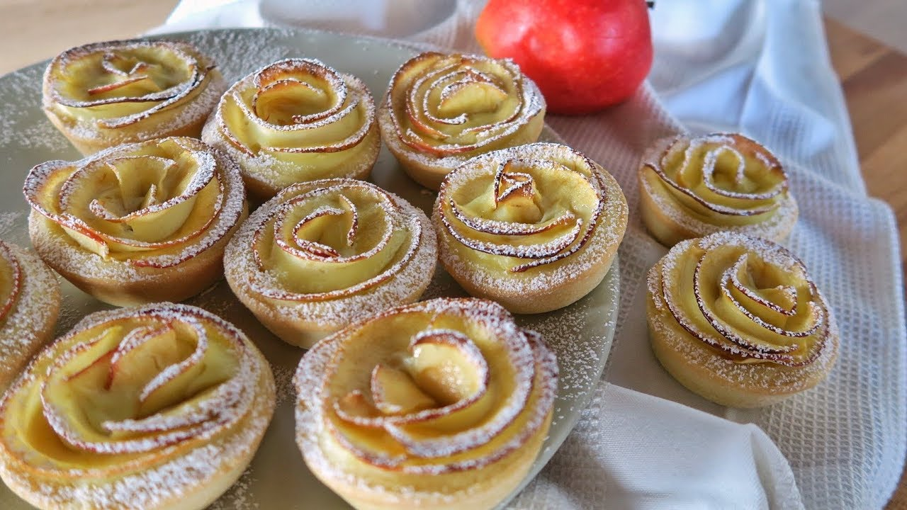 Cream apples tartlets easy recipe homemade by for A casa con benedetta