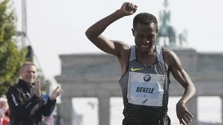 Kenenisa Bekele gana Maratón de Berlín 2016