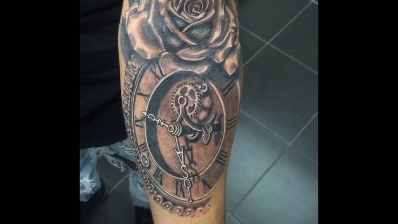 Rose And Clock Tattoo Youtube