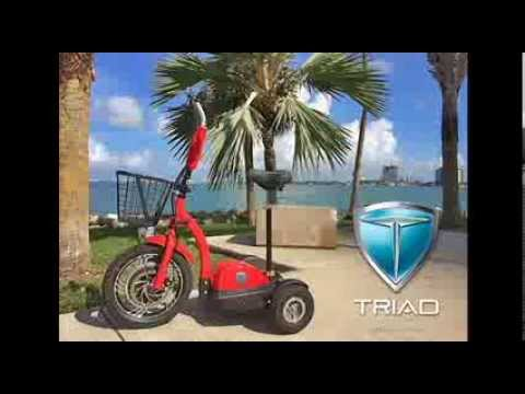 Triad 750 Personal Electric Vehicle 3 Wheel Scooter For