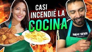🔴ASÍ SE PREPARA POLLO #KFC EN CASA 🍟🍗 #MasterChef jaja
