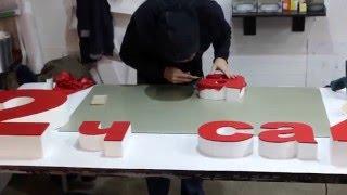 видео изготовление объемные буквы