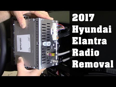 2017 Hyundai Elantra Radio Removal