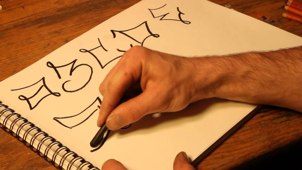 How To Draw A Graffiti Font