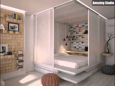 nette versteckt bett design youtube. Black Bedroom Furniture Sets. Home Design Ideas