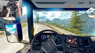 Scania S730 - A Norwegian delivery | Euro Truck Simulator 2 | Logitech g29 gameplay