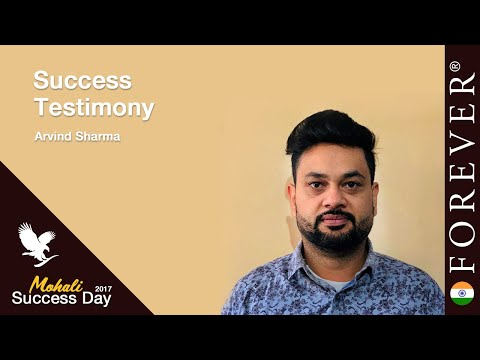 Business Testimony by Arvind Sharma at Mohali Success Day