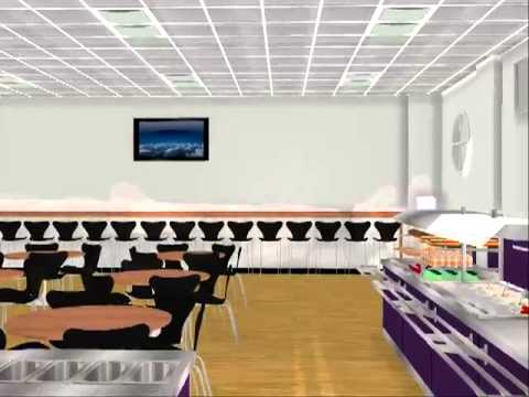 Outwood Academy, Ripon Dining Room 3D Walkthrough Animation
