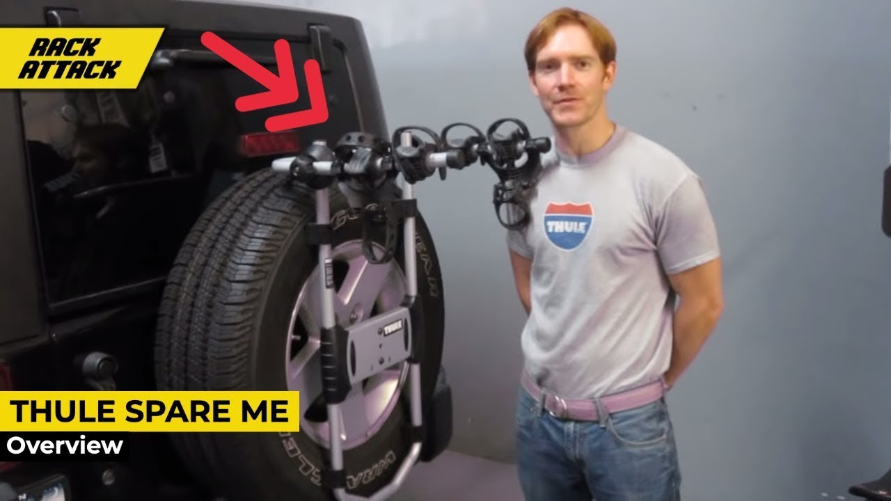 thule 963xtr spareme spare tire bike rack presented by rack outfitters