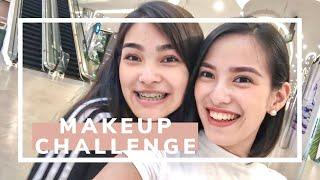 "1000 PESO ""Sister Does My Makeup"" Challenge + First Impressions!!   MURA AT MAGANDANG MAKEUP??"