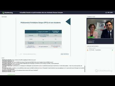 Actualités fiscales et patrimoniales des non résidents fiscaux français