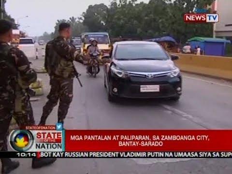 SONA: Mga pantalan at paliparan, sa Zamboanga City, bantay-sarado