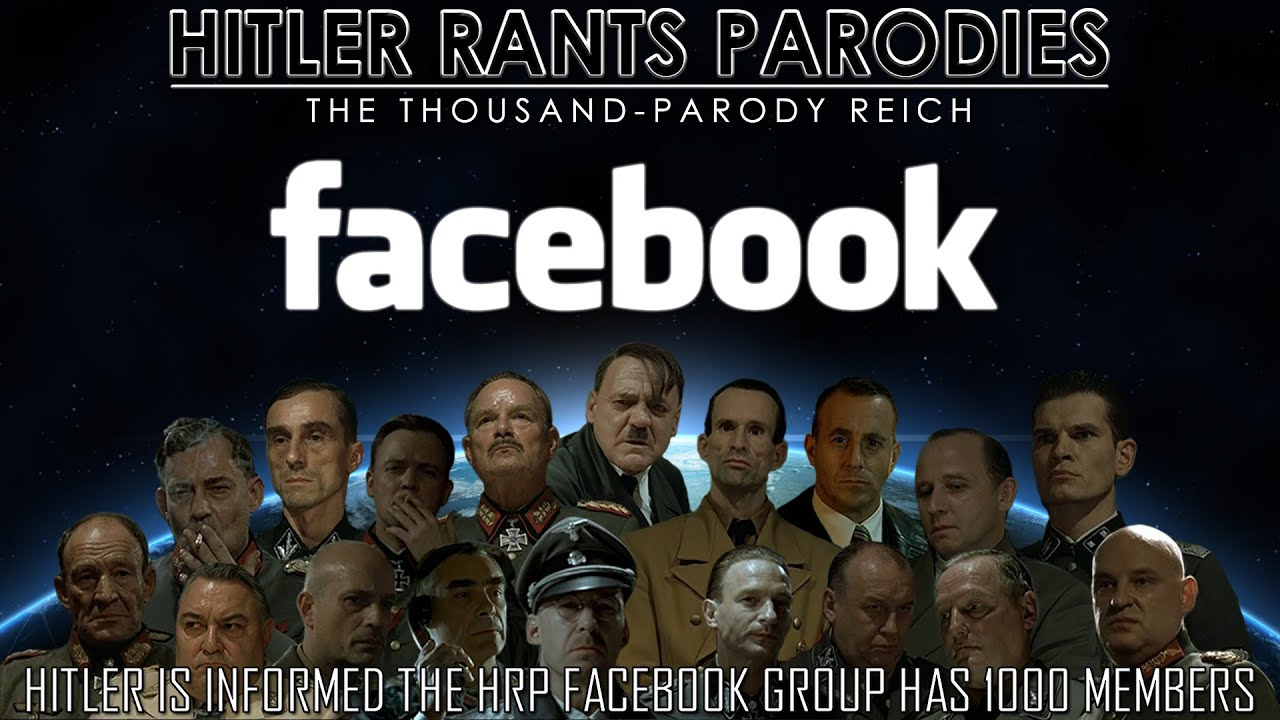 Hitler is informed the HRP Facebook Group has 1000 members