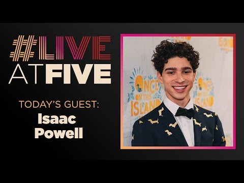 Broadway.com #LiveatFive with Isaac Cole Powell of ONCE ON THIS ISLAND