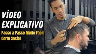 COMO FAZER CORTE SOCIAL MASCULINO ✔ PASSO A PASSO COMPLETO! / Farley Santiago