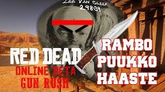 RED DEAD | Gun Rush | Rambo puukko haaste