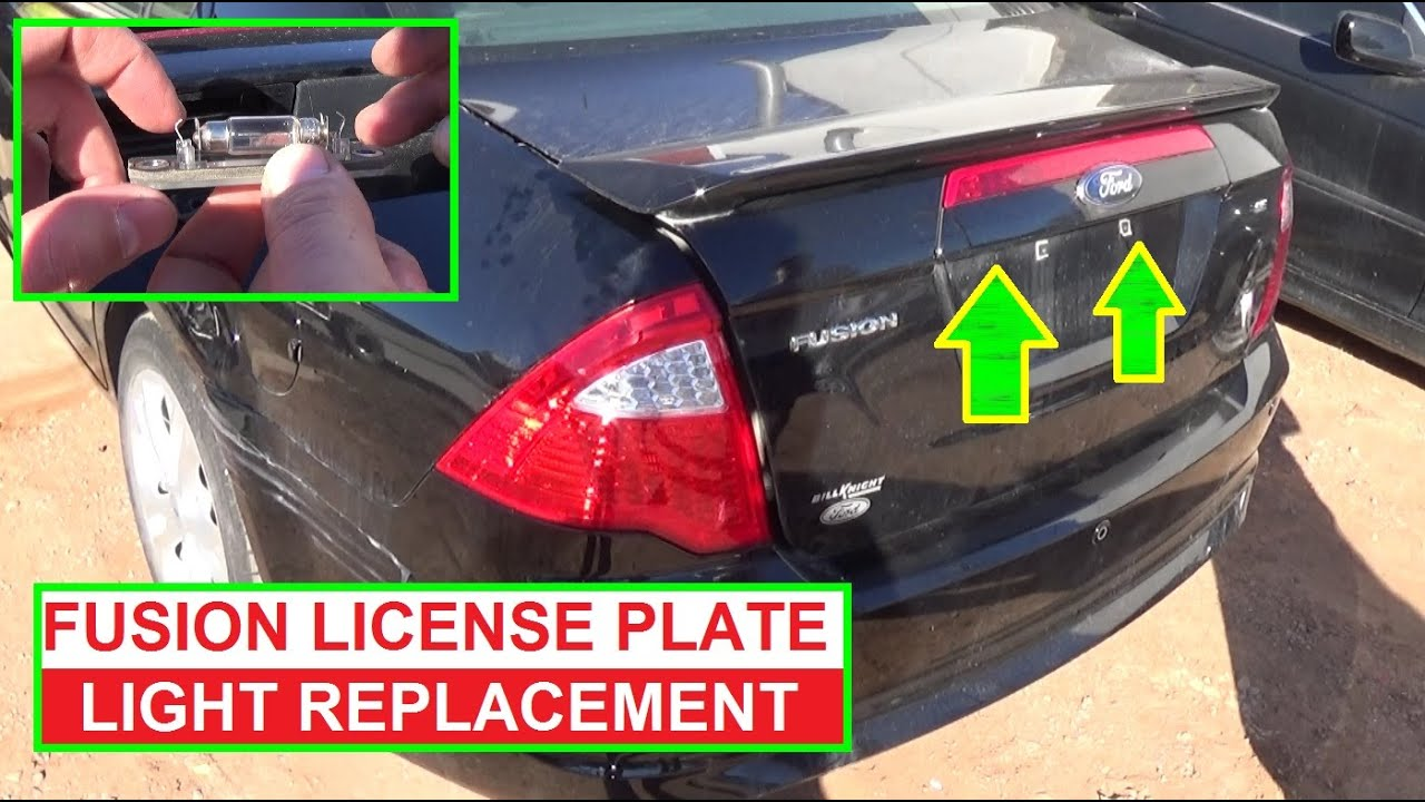 How To Replace The License Plate Light Bulb On Ford Fusion 2009 2010 2017 Tag