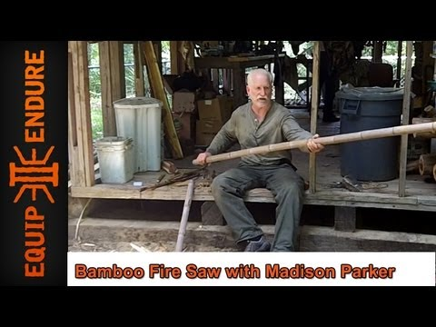 How to Make a Bamboo Fire Saw, Primitive Firecraft with Madison Parker of Equip 2 Endure