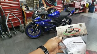 R15 PASANG DOMINO FAST THROTTLE & Y15ZR V2 DAH REGISTER