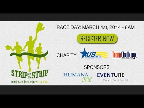 Strip On The Strip 5K/1M Charity Run | Las Vegas 5k 2014