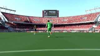 Pro Evolution Soccer 2014 | BEST GOAL EVER |  LONGEST GOAL BY TWO GOALKEEPERS