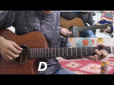Mere Sohneya - Kabir Singh - Hindi Guitar Cover Lesson Chords Tutorial Easy