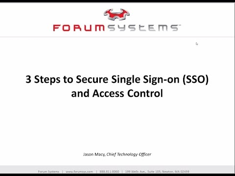 3 Steps to Secure Single Sign-On SSO and Access Control