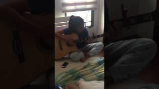 my princess' guitar practice