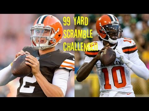 WHO CAN GET A 99 YARD QB SCRAMBLE FIRST?!? JOHNNY MANZIEL VS RG3!! SO SICK!!