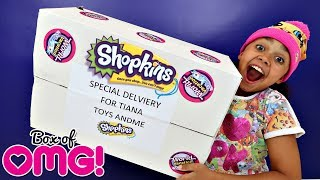 Giant Shopkins Season 8 Surprise Present Toy Opening - Mystery Blind Bags | Toys AndMe Review