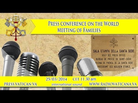 Press conference on the World Meeting of Families