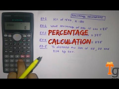 How To Calculate Percentage In Scientific Calculator
