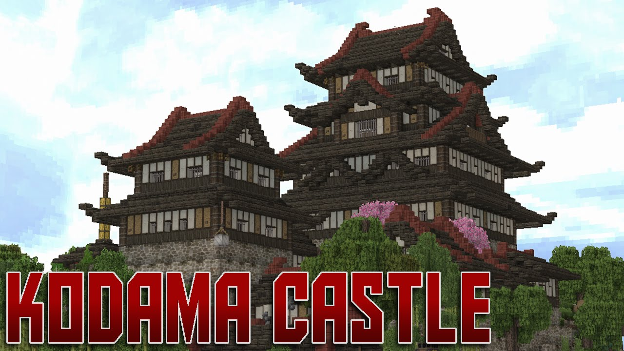 minecraft: japanese castle [kodama] - youtube